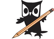 Owl with Pencil Clipart